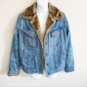 ESPRIT Vintage Sherpa denim Jean jacket